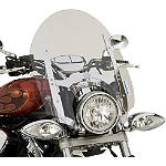 "Yamaha Star Accessories Quick Release Short Chrome Touring Windshield - 17"" - Yamaha Star Accessories Cruiser Wind Shield and Accessories"
