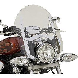 "Yamaha Star Accessories Quick Release Tall Chrome Touring Windshield - 22"" - Yamaha Star Accessories Quick Release Tall Midnight Touring Windshield - 22"