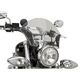 Yamaha Star Accessories Boulevard Chrome Windshield - Yamaha Star Accessories Boulevard Midnight Windshield