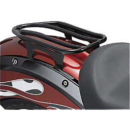 Victory OEM Vegas And Kingpin Solo Luggage Rack - Black - Victory OEM Vegas And Kingpin Solo Luggage Rack - Chrome