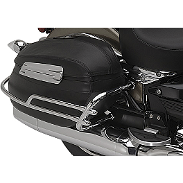 Yamaha Star Accessories Deluxe Hard Sidebag Trim Rails - Yamaha Star Accessories Fixed Mount Midnight Short Passenger Backrest