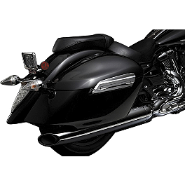 Yamaha Star Accessories Deluxe Hard Sidebags - Raven - Yamaha Star Accessories Hard Saddlebags - Raven