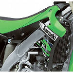 Kawasaki Genuine Accessories Right Radiator Shroud - Green/Black - Kawasaki OEM Parts Dirt Bike Body Parts and Accessories