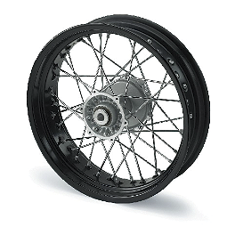 KTM Rear Wheel Complete Black 4.25X17 - 1998 KTM 380SX KTM Excel Pro Series Complete Wheel Black/Orange 1.60X21