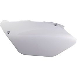 Yamaha Genuine OEM Right Side Panel - White - Yamaha Genuine OEM Off-Road Rear Wheel - 2.15 x 19 Silver