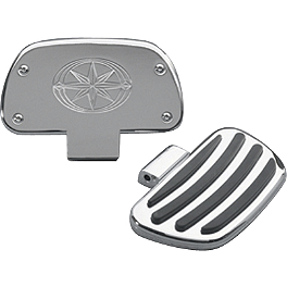 Yamaha Star Accessories Passenger Floorboards - 2002 Yamaha V Star 650 Custom - XVS650 Yamaha Star Accessories Classic Deluxe Saddlebags - Plain