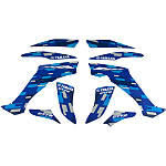 GYTR Graphic Kit - Blue Retro - Dirt Bike ATV Graphics and Decals
