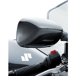 Suzuki Genuine Accessories Mirror Covers - Carbon - Suzuki Genuine Accessories Cycle Cover