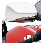 Suzuki Genuine Accessories Mirror Covers - Chrome - Motorcycle Mirrors