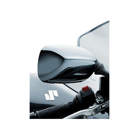 Suzuki Genuine Accessories Mirror Covers - Black Chrome - Main