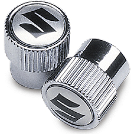 Suzuki Genuine Accessories Tire Valve Caps - Suzuki Logo - Suzuki Genuine Accessories Mirror Covers - Chrome