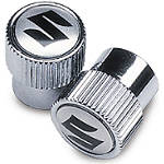 Suzuki Genuine Accessories Tire Valve Caps - Suzuki Logo - Motorcycle Products