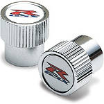 Suzuki Genuine Accessories Tire Valve Caps - GSX-R Logo - Motorcycle Tire and Wheel Accessories