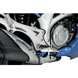 Suzuki Genuine Accessories Heelguard Trim - Carbon - National Cycle Flyscreen Windshield - Light Smoke