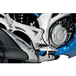 Suzuki Genuine Accessories Heelguard Trim - Carbon - Suzuki OEM Parts Motorcycle Foot Controls