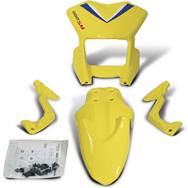 Suzuki Genuine Accessories Supermoto Style Front Cowl - Yellow - Suzuki Genuine Accessories Supermoto Style Appearance Kit - Yellow