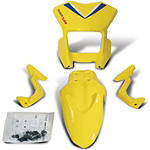 Suzuki Genuine Accessories Supermoto Style Front Cowl - Yellow - Suzuki OEM Parts Dirt Bike Plastic Kits