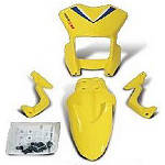 Suzuki Genuine Accessories Supermoto Style Appearance Kit - Yellow - Dirt Bike Plastics and Plastic Kits
