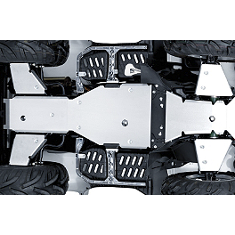 Suzuki Genuine Accessories Two Piece Skid Plate - 2013 Suzuki KING QUAD 500AXi 4X4 Suzuki Genuine Accessories Warn Winch Mount