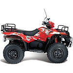 Suzuki Genuine Accessories Graphic Kit - Red / Grey - Utility ATV Trim Decals