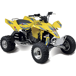 Suzuki Genuine Accessories Tribal Graphic Kit - Yellow - Suzuki Genuine Accessories Large Front Bumper - Aluminum