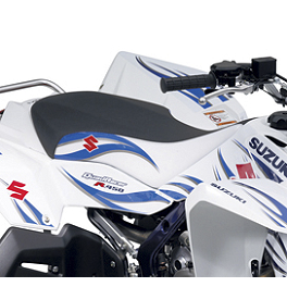 Suzuki Genuine Accessories Seat Cover - Tribal White - Suzuki Genuine Accessories Nerf Bars - Black