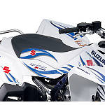 Suzuki Genuine Accessories Seat Cover - Tribal White - ATV Graphics and Decals