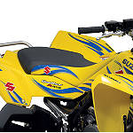 Suzuki Genuine Accessories Seat Cover - Tribal Yellow - ATV Graphics and Decals