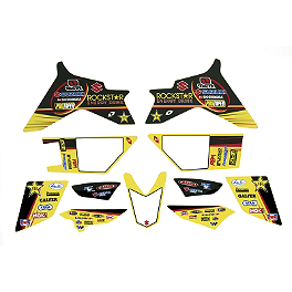 Suzuki Genuine Accessories Graphic Kit - Rockstar Suzuki - 2013 Factory Effex Rockstar ATV Graphics Kit - Suzuki