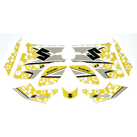 Suzuki Genuine Accessories Graphic Kit - White Flower - Main