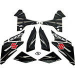 Suzuki Genuine Accessories Camo Graphic Kit - Black / Grey - Motocross Graphics & Dirt Bike Graphics