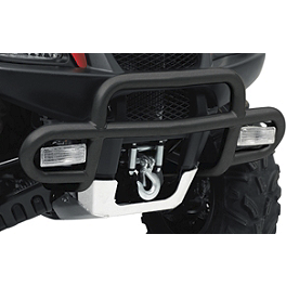 Suzuki Genuine Accessories Front Bumper - Black Wrinkle - 2012 Suzuki KING QUAD 500AXi 4X4 POWER STEERING Suzuki Genuine Accessories Warn Winch Mount