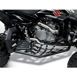 Suzuki Genuine Accessories Nerf Bars - Black - 2006 Suzuki LT-R450 Suzuki Genuine Accessories Large Front Bumper - Aluminum
