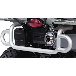 Suzuki Genuine Accessories Rear Bumper - Silver Smooth - Suzuki Genuine Accessories Front Bumper - Black Wrinkle