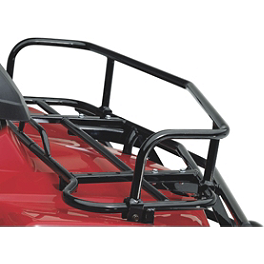 Suzuki Genuine Accessories Front Rack Extension - Black Smooth - 2011 Suzuki KING QUAD 400ASi 4X4 AUTO Suzuki Genuine Accessories Warn Winch Mount