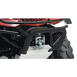 Suzuki Genuine Accessories Front Bumper - Black Wrinkle - 2013 Suzuki KING QUAD 400ASi 4X4 AUTO Suzuki Genuine Accessories Warn Winch Mount
