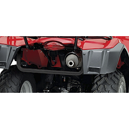 Suzuki Genuine Accessories Rear Bumper - Black Wrinkle - 2008 Suzuki KING QUAD 400FS 4X4 SEMI-AUTO Suzuki Genuine Accessories Warn Winch Mount