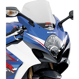 Suzuki Genuine Accessories Sport Touring Windshield - Clear - Suzuki Genuine Accessories Tire Valve Caps - GSX-R Logo