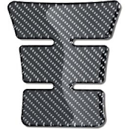 Suzuki Genuine Accessories Carbon Tank Pad - Small - Suzuki Genuine Accessories Mirror Covers - Black Chrome