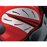 Suzuki Genuine Accessories Tank Side Trim - Silver Carbon -  Motorcycle Tank Accessories