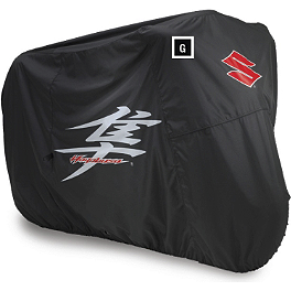 Suzuki Genuine Accessories Cycle Cover - 2012 Suzuki GSX1300R - Hayabusa Suzuki Genuine Accessories Tire Valve Caps - Hayabusa Logo