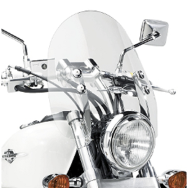 Suzuki Genuine Accessories Chrome Billet Windshield - Suzuki Genuine Accessories Throw-Over Saddlebag - Classic
