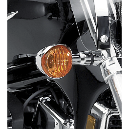 Suzuki Genuine Accessories Turn Signal Visors - 2006 Suzuki Boulevard C50T - VL800T Arlen Ness Battistini Round Rear Footpegs - Black