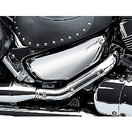 Suzuki Genuine Accessories Left Side Cover - Chrome - 2006 Suzuki Boulevard C90 - VL1500B Suzuki Genuine Accessories Fender Rack