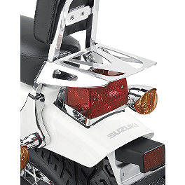Suzuki Genuine Accessories Rear Rack - 2013 Suzuki Boulevard S40 - LS650 Suzuki Genuine Accessories Saddlebag Supports