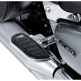 Suzuki Genuine Accessories Billet Passenger Floorboards - Milled Boulevard Logo - 2006 Suzuki Boulevard C90 - VL1500B Suzuki Genuine Accessories Fender Rack