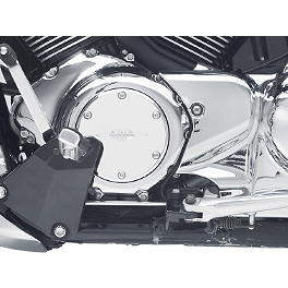 Suzuki Genuine Accessories Billet Engine Cover - Smooth Boulevard Logo - 2007 Suzuki Boulevard M109R - VZR1800 Kuryakyn Rear Caliper Cover