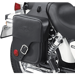 Suzuki Genuine Accessories Throw-Over Saddlebag - Classic - Suzuki Genuine Accessories Billet Passenger Backrest