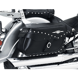 Suzuki Genuine Accessories Leather Saddlebags - Studded - Suzuki Genuine Accessories Synthetic Leather Saddlebags - Classic