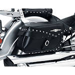 Suzuki Genuine Accessories Leather Saddlebags - Studded - Suzuki OEM Parts Cruiser Saddle Bags